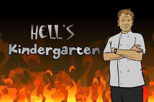 gordon ramsey kitchen hell hells food kids class school fox reality